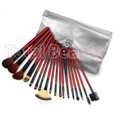 Set 18 pensule machiaj Fraulein38 Silver Style - Pensula machiaj