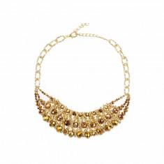 Colier elegant auriu margele - Colier fashion