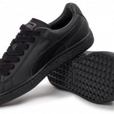 Puma Classic Negru - Nr. 42, 43 - Import Anglia - Adidasi barbati Puma, Piele sintetica