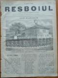 Ziarul Resboiul , nr. 107 , 1877 , gravura , Garda rusa defiland si Carol I