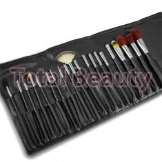 Set 20 pensule machiaj - Black Design - Pensula machiaj