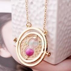 Medalion Harry Potter - Timer Turner/Clepsidra - Roz - Sigilata - Pandantiv fashion