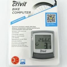 Vitezometru (computer) pentru bicicleta – wireless - cu multiple functii - GRI - Accesoriu Bicicleta