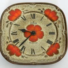 Ceas ceramica hand-painted JUNGHANS Germany - Ceas de perete