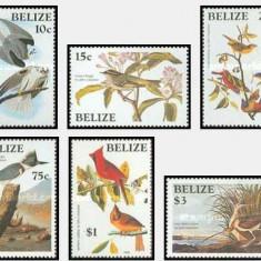 Belize 1985 - Pasari, serie neuzata - Timbre straine
