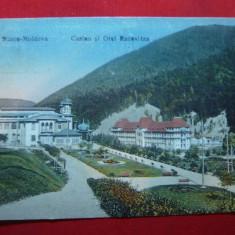 Ilustrata Slanic Moldova - Cazinoul si Hotel Racovita - Ed. Saraga si Schwartz - Carte Postala Moldova pana la 1904, Necirculata, Printata