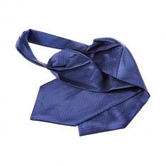 Cravata ascot bleumarin costum