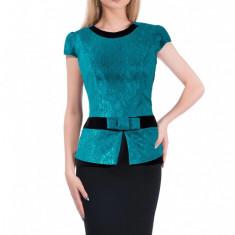 Rochie din dantela prețioasă pentru office si ocazii deosebite - Rochie ocazie PerDonna, Marime: 48, XXL, Culoare: Din imagine, Midi, Scurta