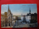 Ilustrata Cluj - Bl.Franz Josef ,inc.sec.XX , color, Circulata, Printata