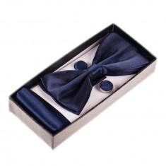 Papion camasa bleumarin set - Papion Barbati