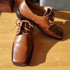 Pantofi barbatesti italian style Taima, Marime: 45, Culoare: Cappuccino