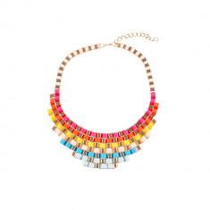 Colier multicolor auriu impletit - Colier fashion