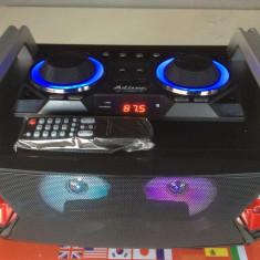 SISTEM KARAOKE ULTIMA GENERATIE,BOXA ACTIVA,MIXER,MP3 USB,BLUETOOTH+2 MICROFOANE