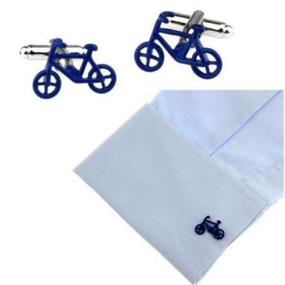 Butoni camasa model bicicleta BLUE BIKE + ambalaj  cadou foto