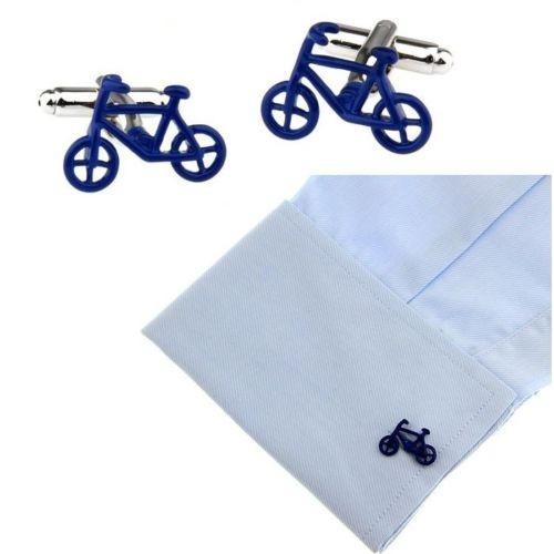 Butoni camasa model bicicleta BLUE BIKE + ambalaj  cadou