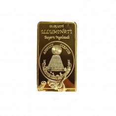 Lingou Masonic Medalie Comemorativa Illuminati Francmasoneria, Europa