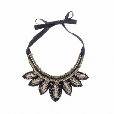 Colier guler margele negru - Colier fashion