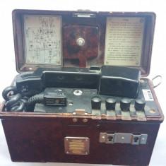 TELEFON MILITAR PORTABIL - ANII 1950