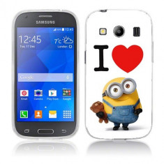 Husa Samsung Galaxy Ace 4 G357 Silicon Gel Tpu Model I Love Minions - Husa Telefon