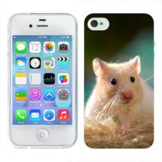 Husa iPhone 4S Silicon Gel Tpu Model Hamster - Husa Telefon Apple, iPhone 4/4S