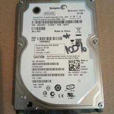 Hard Disk / HDD SATA SEAGATE MOMENTUS 80GB 100% HEALTH 7200RPM Laptop - HDD laptop Seagate, 41-80 GB