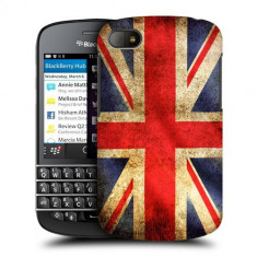 Husa BlackBerry Q10 Silicon Gel Tpu Model UK Flag - Husa Telefon