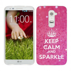 Husa LG G2 Mini Silicon Gel Tpu Model Keep Calm Sparkle - Husa Telefon