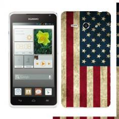 Husa Huawei Ascend Y530 Silicon Gel Tpu Model USA Flag - Husa Telefon