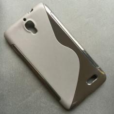 Husa Orange San Remo Alcatel Idol OT-6030 Silicon Gel Tpu S-Line Neagra - Husa Telefon