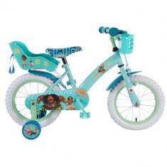 Bicicleta cu Roti Ajutatoare Vaiana-Moana, 14 inch - Bicicleta copii