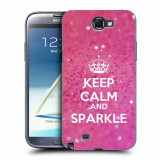 Husa Samsung Galaxy Note 2 N7100 Silicon Gel Tpu Model Keep Calm Sparkle