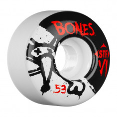Set 4 roti skateboard Bones STF V1 Series 53mm
