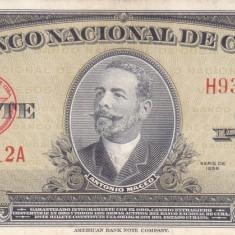 Bancnota Cuba 20 Pesos 1958 - P80b XF+ - bancnota america