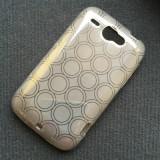 Husa HTC Wildfire S G13 Silicon Gel TPU Circles Gri
