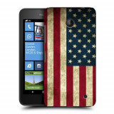 Husa Nokia Lumia 635 630 Silicon Gel Tpu Model USA Flag