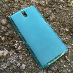 Husa OnePlus One Silicon Gel Tpu Matte Albastra - Husa Telefon