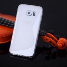 Husa Samsung Galaxy S6 Edge G925 Silicon Gel Tpu S-Line Alba Semitransparenta - Husa Telefon