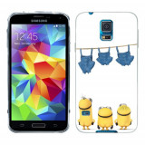 Husa Samsung Galaxy S5 G900 G901 Plus G903 Neo Silicon Gel Tpu Model Naked Minions