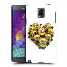 Husa Samsung Galaxy Note 4 N910 Silicon Gel Tpu Model Minions Heart Shape - Husa Telefon