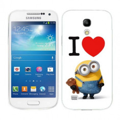 Husa Samsung Galaxy S4 Mini i9190 i9195 Silicon Gel Tpu Model I Love Minions - Husa Telefon