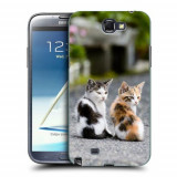 Husa Samsung Galaxy Note 2 N7100 Silicon Gel Tpu Model Kitties
