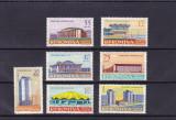 ROMANIA 1961 , LP 531 , ARHITECTURA ROMANEASCA  MODERNA  SERIE MNH, Nestampilat