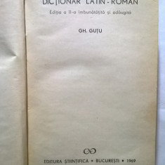 Gh. Gutu – Dictionar latin-roman {Mic}