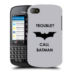 Husa BlackBerry Q10 Silicon Gel Tpu Model Batman - Husa Telefon
