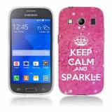 Husa Samsung Galaxy Ace 4 G357 Silicon Gel Tpu Model Keep Calm Sparkle