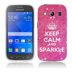Husa Samsung Galaxy Ace 4 G357 Silicon Gel Tpu Model Keep Calm Sparkle - Husa Telefon