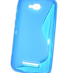 Husa Silicon Gel Alcatel One Touch Pop C7 S-Line Albastra