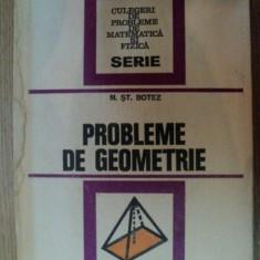 PROBLEME DE GEOMETRIE de MIHAIL ST. BOTEZ, 1976 - Carte Matematica