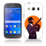 Husa Samsung Galaxy Ace 4 G357 Silicon Gel Tpu Model Mafia Monkey