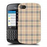 Husa BlackBerry Q10 Silicon Gel Tpu Model Burberry Pattern